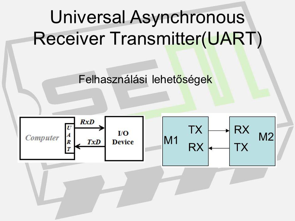 Felhasználási példa (RS232) Universal Asynchronous Receiver Transmitter(UART)