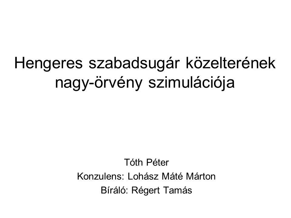 Hengeres szabadsugár közelterének nagy-örvény szimulációja Tóth Péter Konzulens: Lohász Máté Márton Bíráló: Régert Tamás