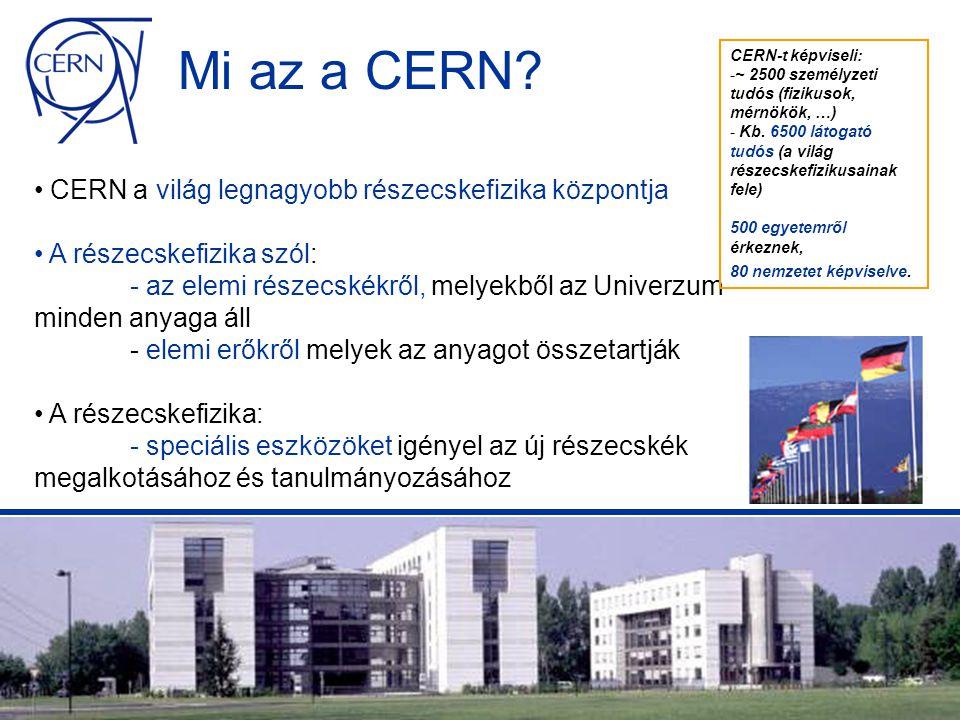 A Grid előfutárai SETI@home: szabad PC feldolgozóerő megosztása a rádiójelek elemzéséhez Napster: adatmegosztás (zene) számítógépek között Entropia DCGrid: kereskedelmi megoldás a munkaállomások megosztására egy vállalaton belül A különség: CERN Gridje gépi erőforrásokat fog kombinálni nagy számítógépközpontokban, melyek kizárólagos felszerelést és kifinomult middleware-t igényelnek az erőforrások megfigyeléséhez és allokációjához