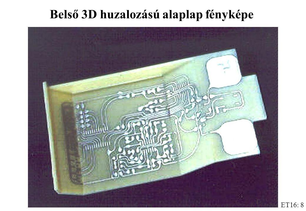 ET16: 8 Belső 3D huzalozású alaplap fényképe