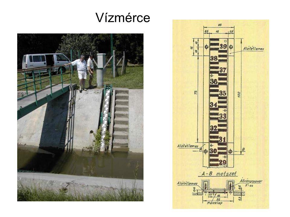 Vízhozam mérés szabad szelvényben: átfolyási szelvény x sebesség