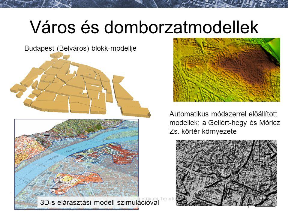 Fotogrammetria és Térinformatika Tanszék Város és domborzatmodellek Budapest (Belváros) blokk-modellje 3D-s elárasztási modell szimulációval Automatik