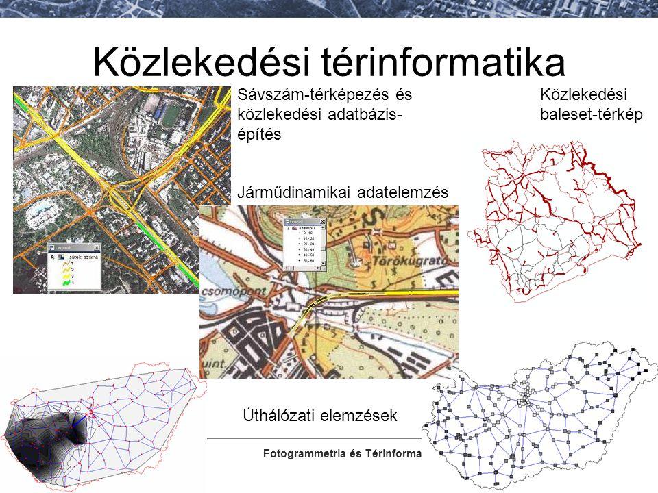 Fotogrammetria és Térinformatika Tanszék Közlekedési térinformatika Közlekedési baleset-térkép Sávszám-térképezés és közlekedési adatbázis- építés Úth
