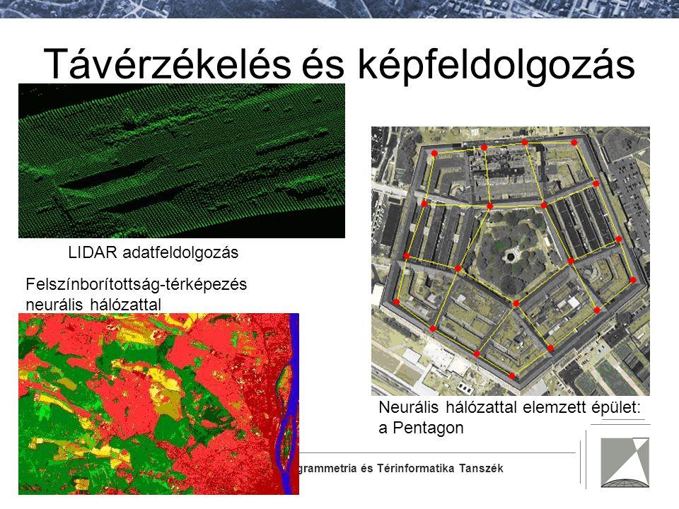 Fotogrammetria és Térinformatika Tanszék Távérzékelés és képfeldolgozás LIDAR adatfeldolgozás Neurális hálózattal elemzett épület: a Pentagon Felszínb