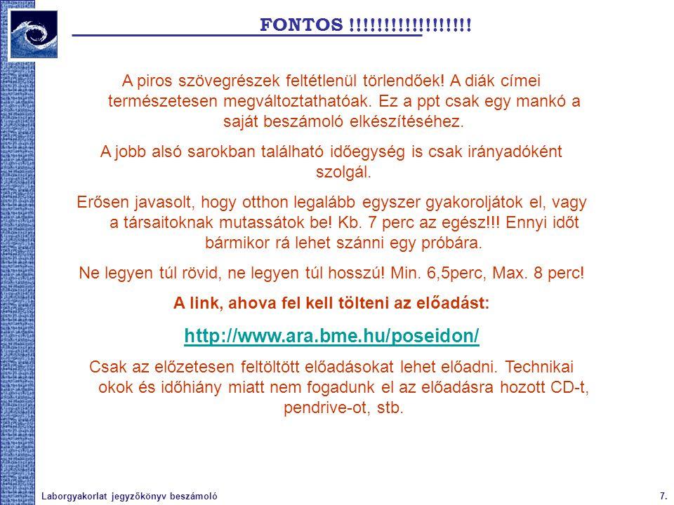 7.Laborgyakorlat jegyzőkönyv beszámoló FONTOS !!!!!!!!!!!!!!!!!.