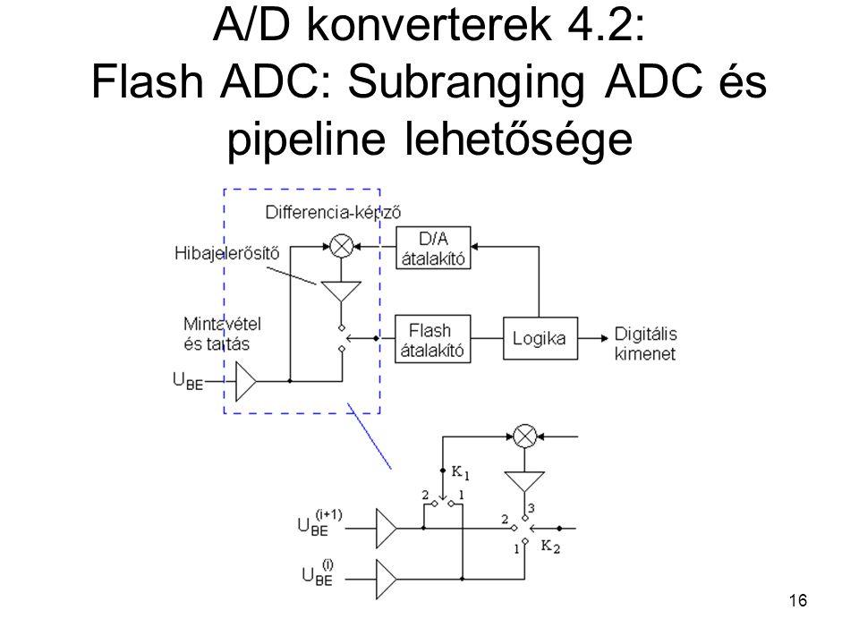 16 A/D konverterek 4.2: Flash ADC: Subranging ADC és pipeline lehetősége