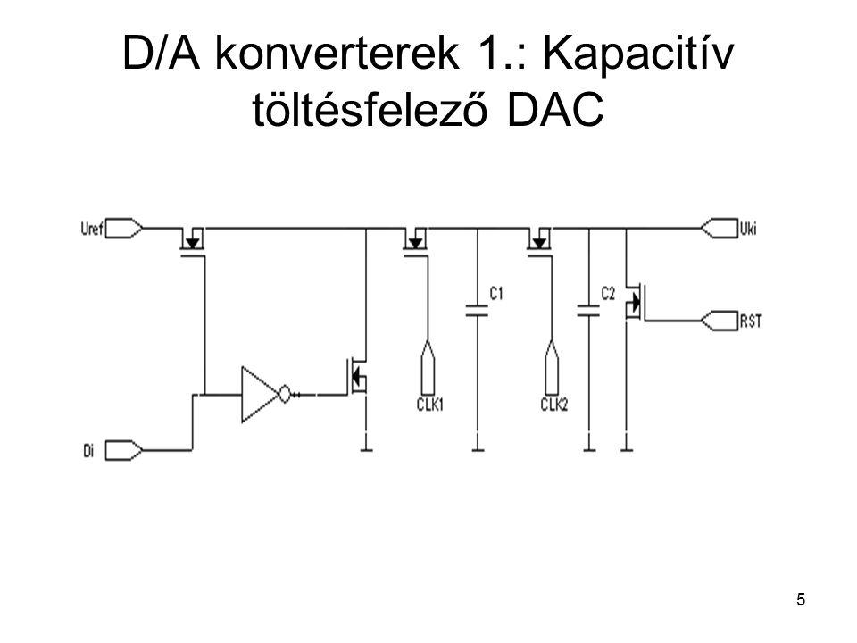 5 D/A konverterek 1.: Kapacitív töltésfelező DAC