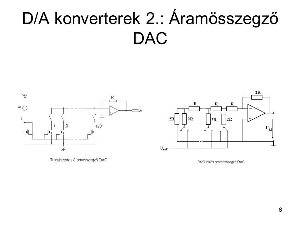 6 D/A konverterek 2.: Áramösszegző DAC