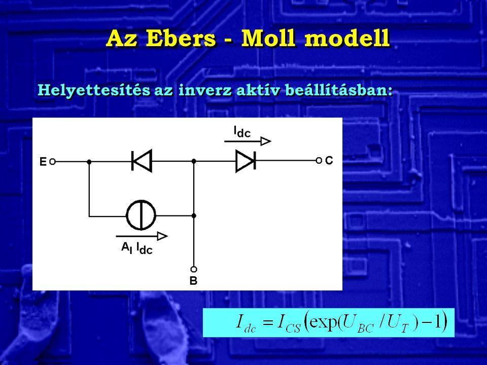 Az Ebers - Moll modell Helyettesítés az inverz aktív beállításban: