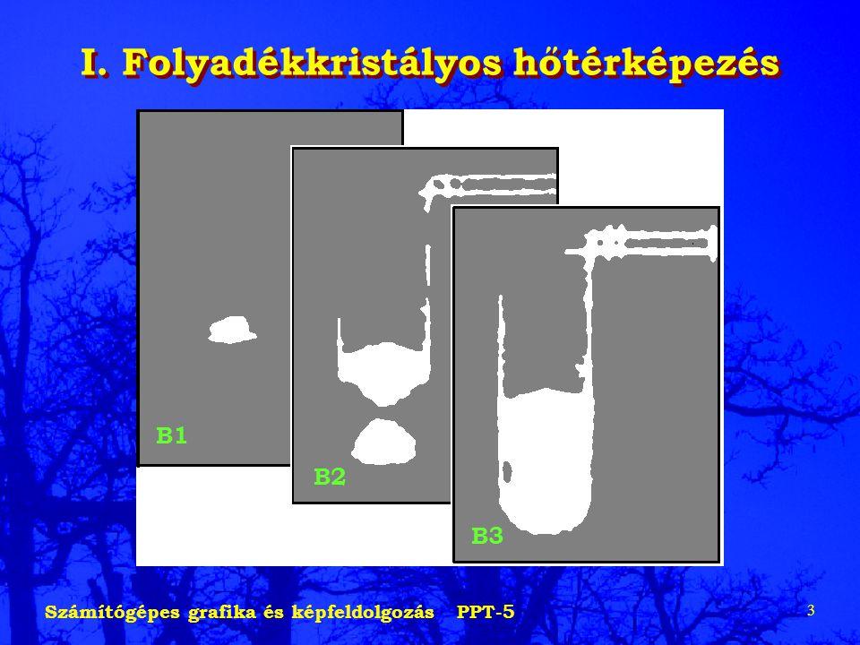 Számítógépes grafika és képfeldolgozás PPT-5 3 I. Folyadékkristályos hőtérképezés B1 B2 B3