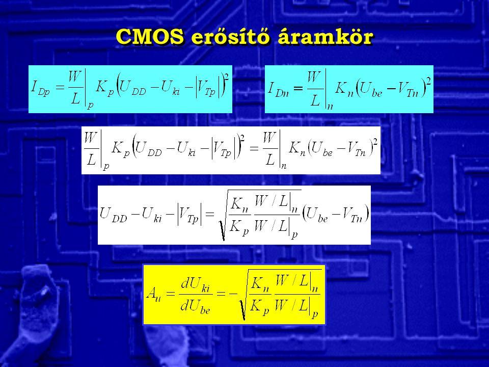CMOS erősítő áramkör