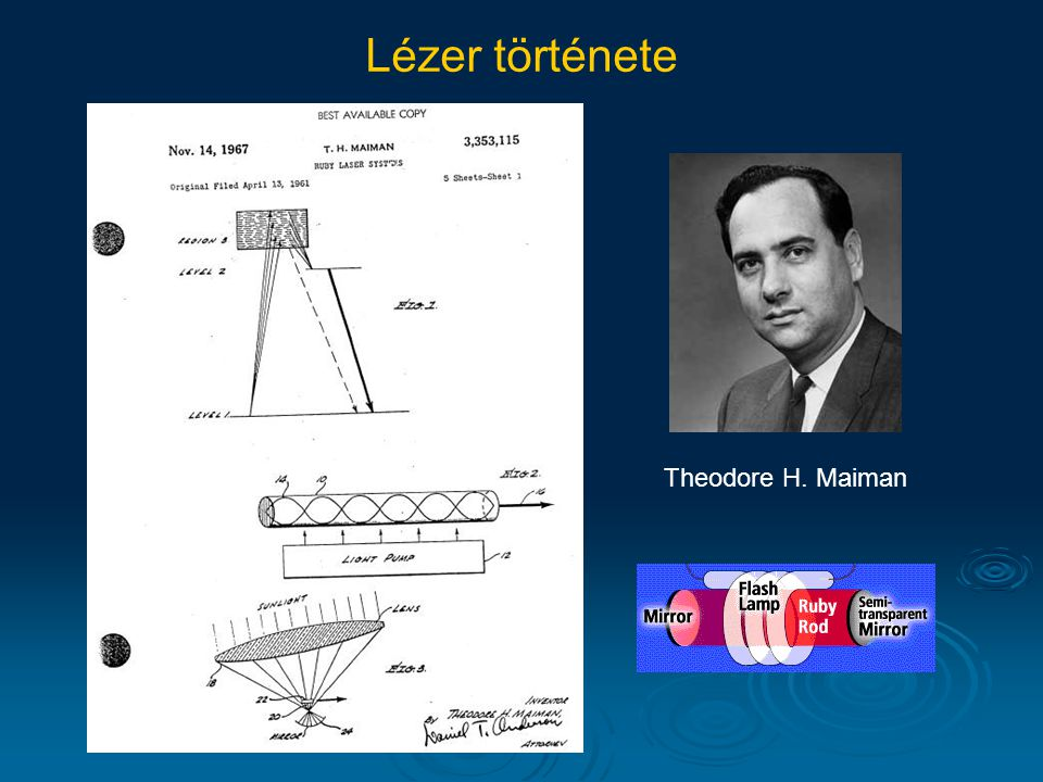 Theodore H. Maiman Lézer története