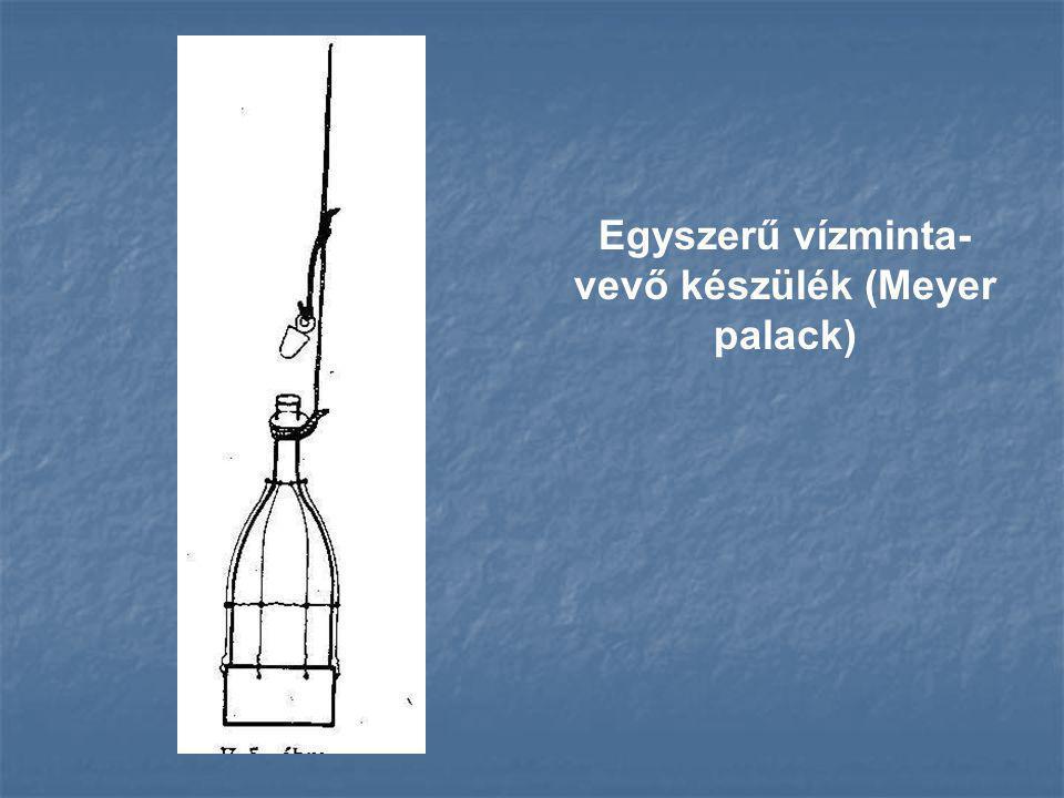 Egyszerű vízminta- vevő készülék (Meyer palack)