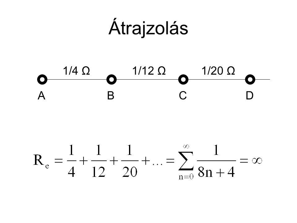 Átrajzolás DCBA 1/4 Ω1/12 Ω1/20 Ω