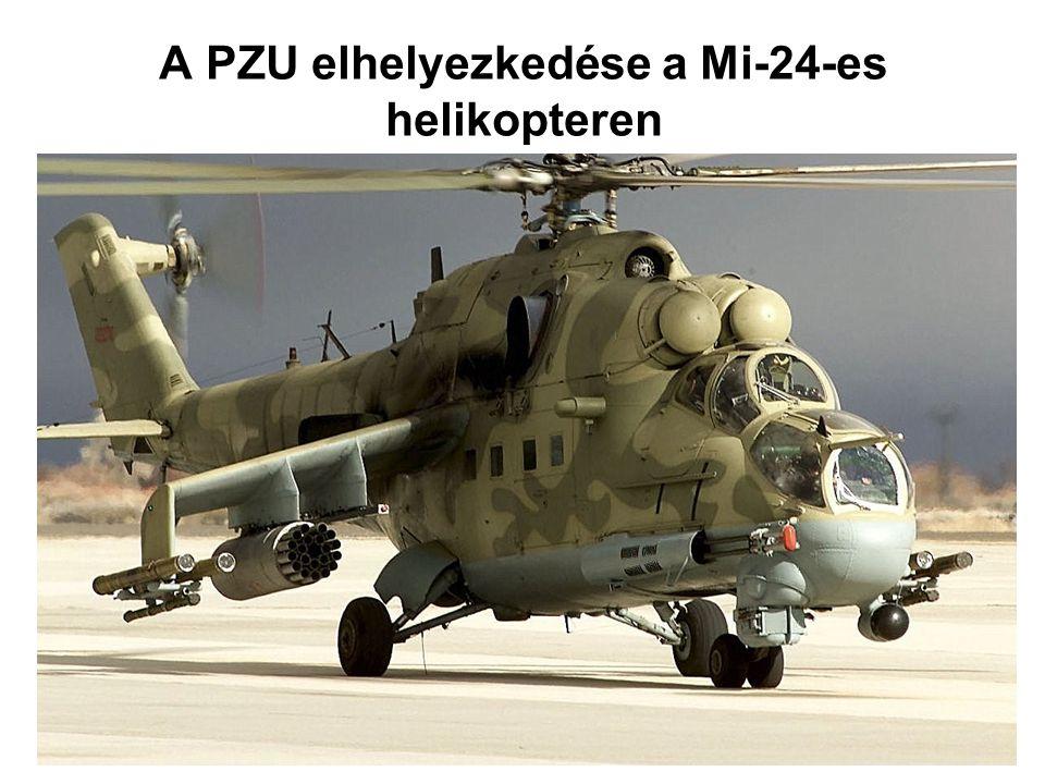 A PZU elhelyezkedése a Mi-24-es helikopteren