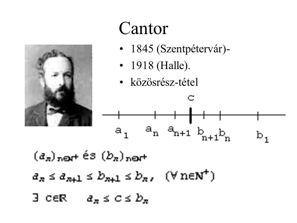 Cauchy 1789 (Párizs)- 1857 (Fr. o). Cauchy-sorozat