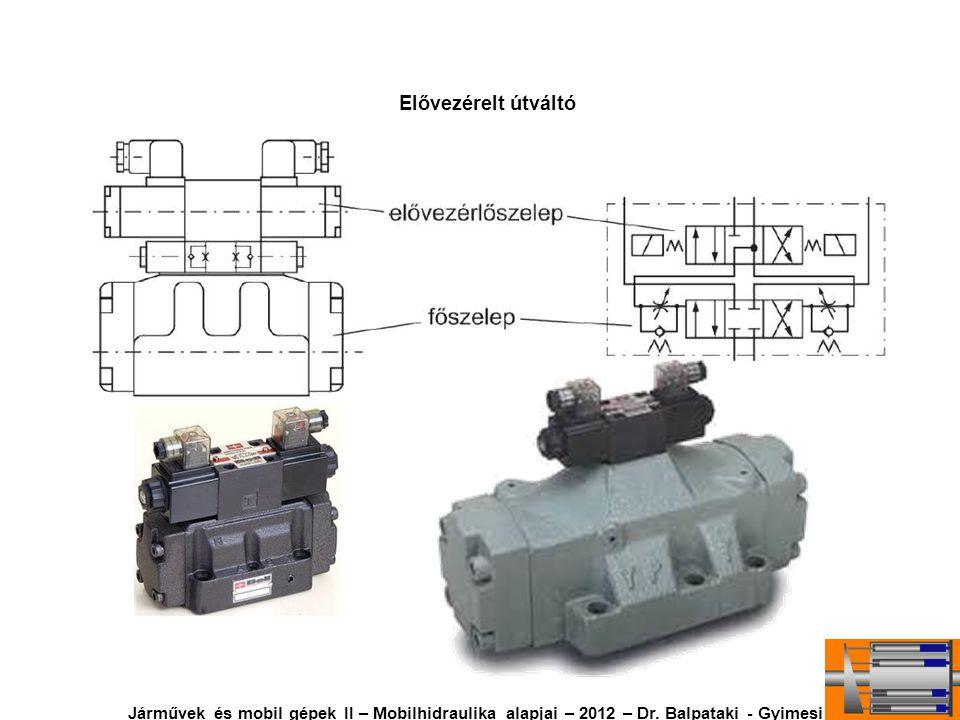 Elővezérelt útváltó Járművek és mobil gépek II – Mobilhidraulika alapjai – 2012 – Dr. Balpataki - Gyimesi