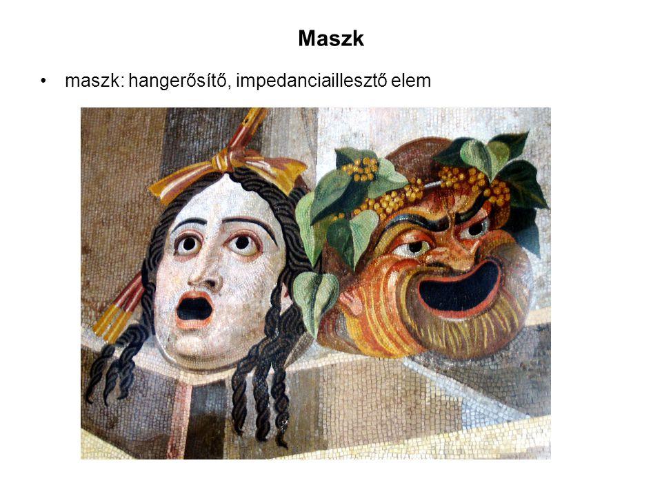 Maszk maszk: hangerősítő, impedanciaillesztő elem