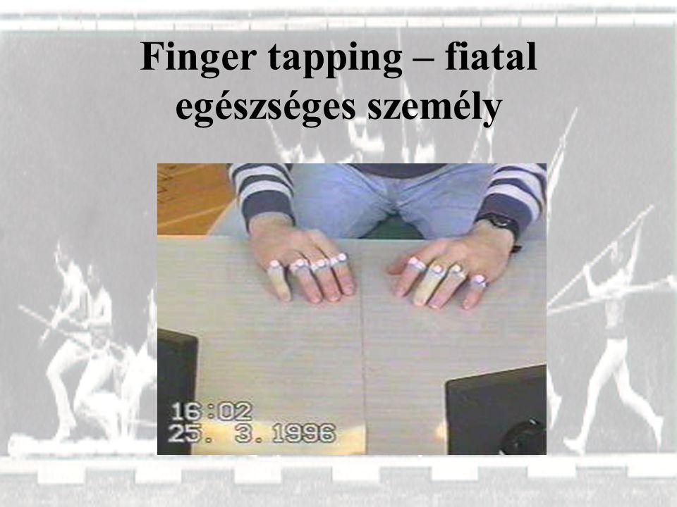 Finger tapping – fiatal egészséges személy