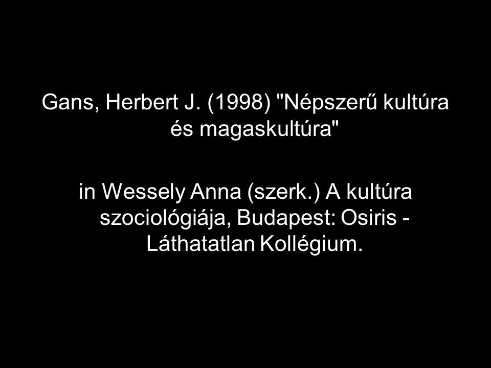 Gans, Herbert J. (1998)
