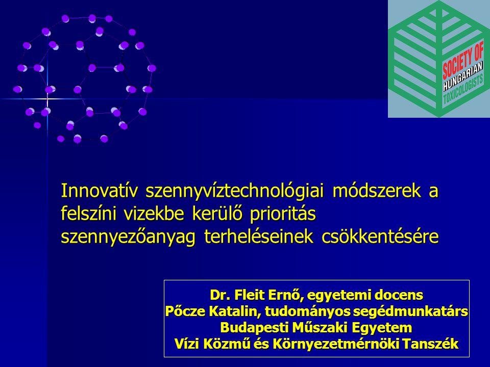 Innovatív szennyvíztechnológiai módszerek a felszíni vizekbe kerülő prioritás szennyezőanyag terheléseinek csökkentésére Dr. Fleit Ernő, egyetemi doce
