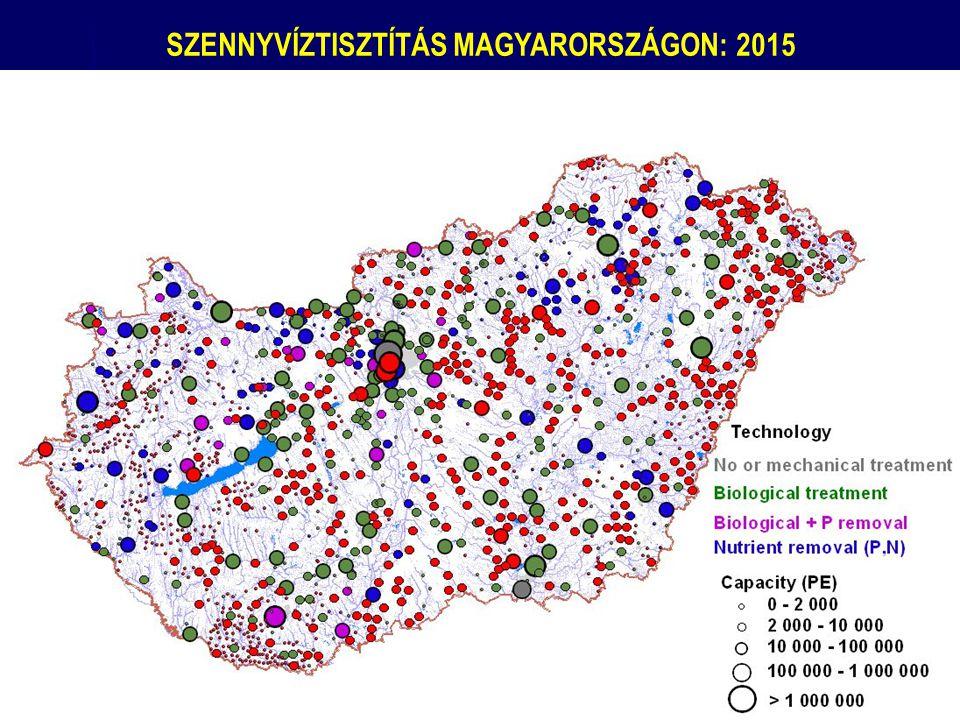 SZENNYVÍZTISZTÍTÁS MAGYARORSZÁGON: 2015