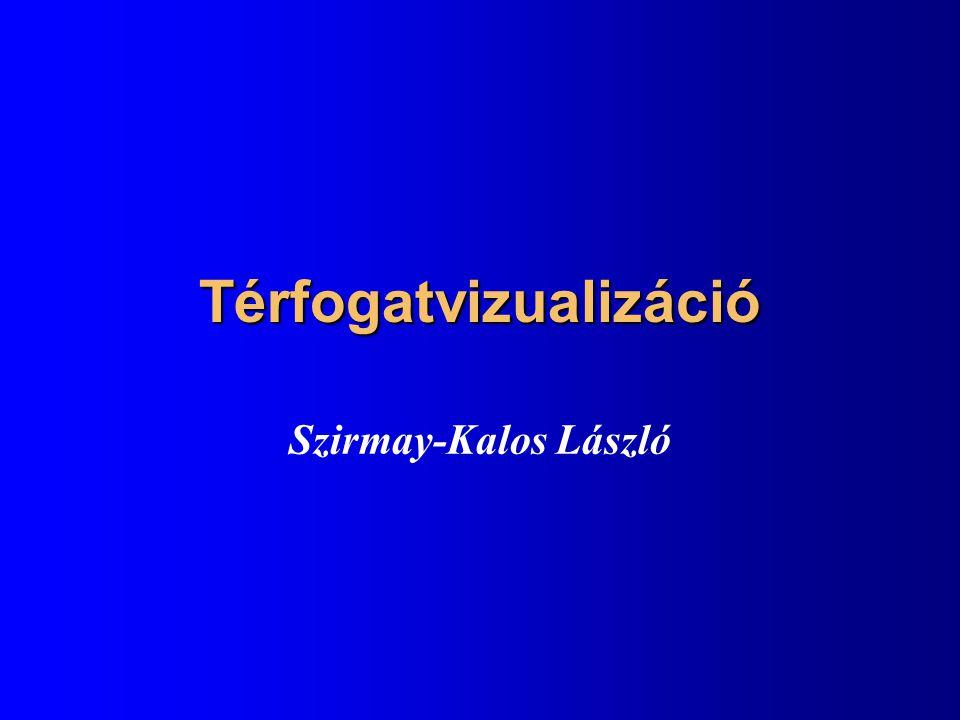 Térfogatvizualizáció Szirmay-Kalos László