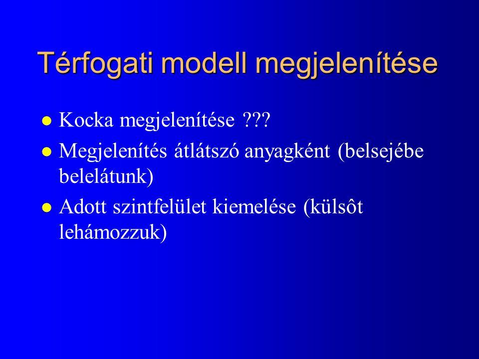 Térfogati modell megjelenítése l Kocka megjelenítése .