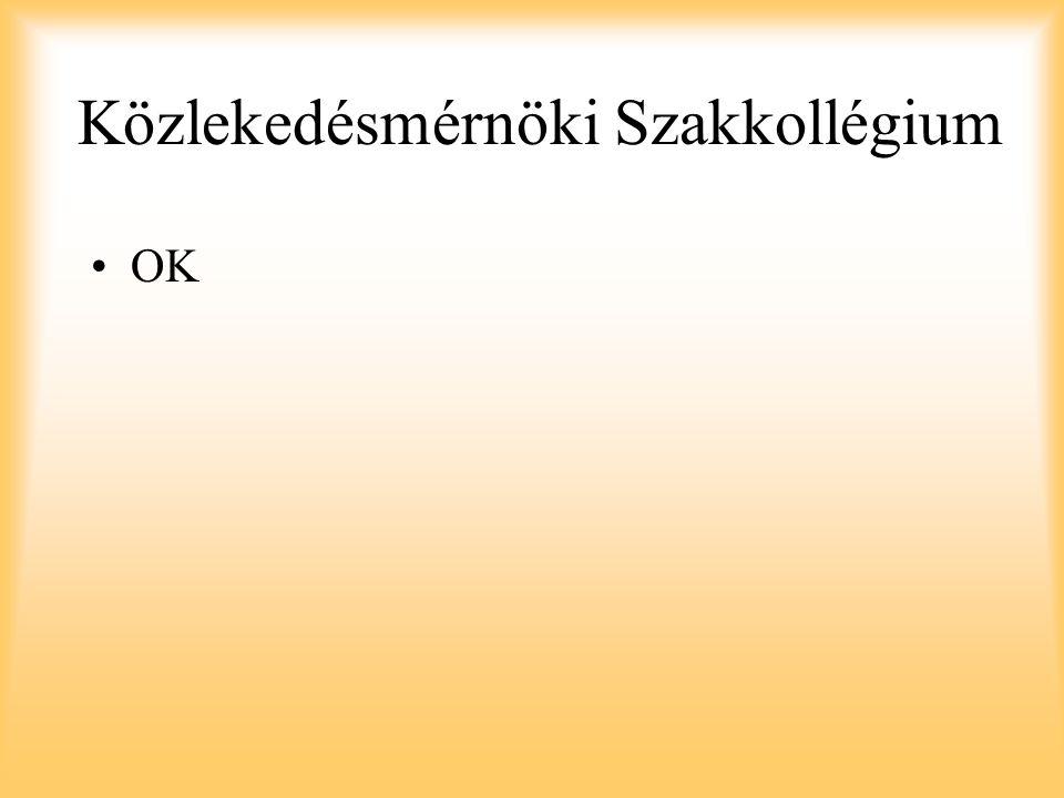 Közlekedésmérnöki Szakkollégium OK