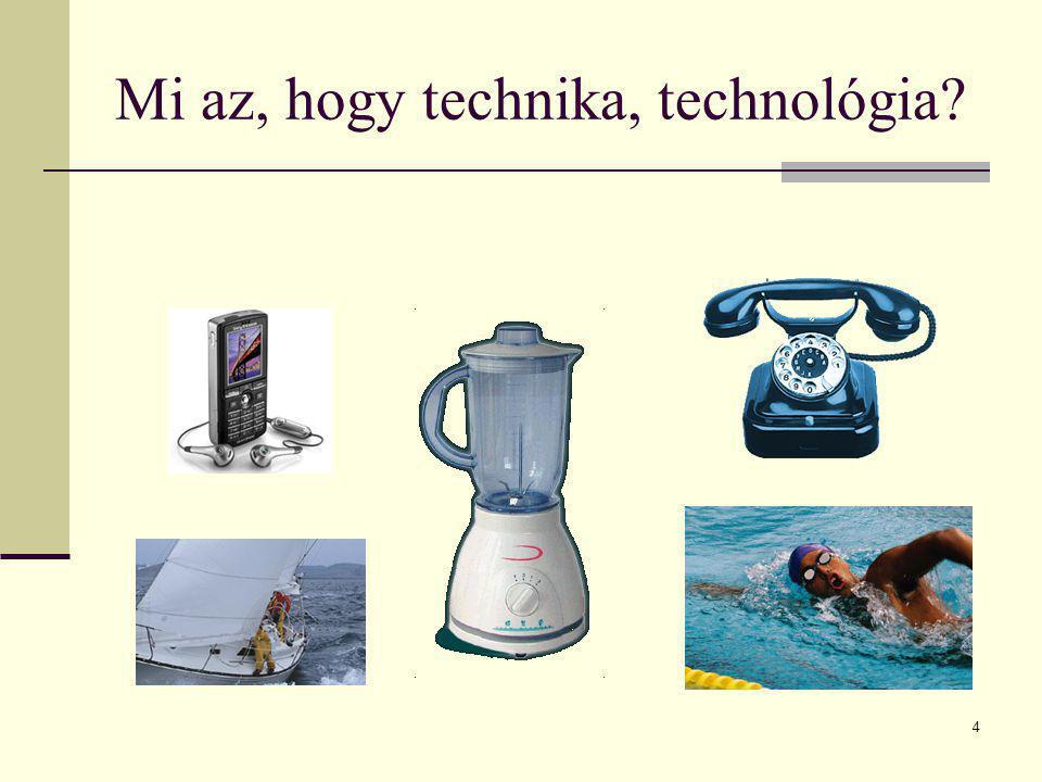 4 Mi az, hogy technika, technológia?
