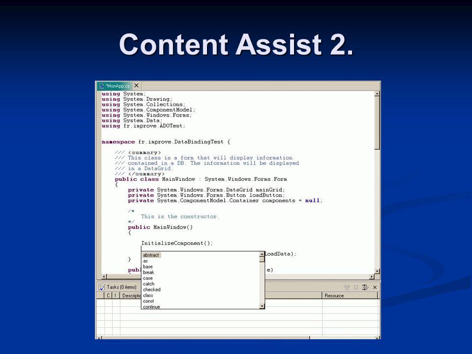 Content Assist 2.