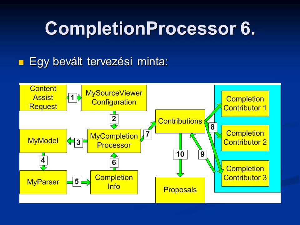 CompletionProcessor 6. Egy bevált tervezési minta: Egy bevált tervezési minta: