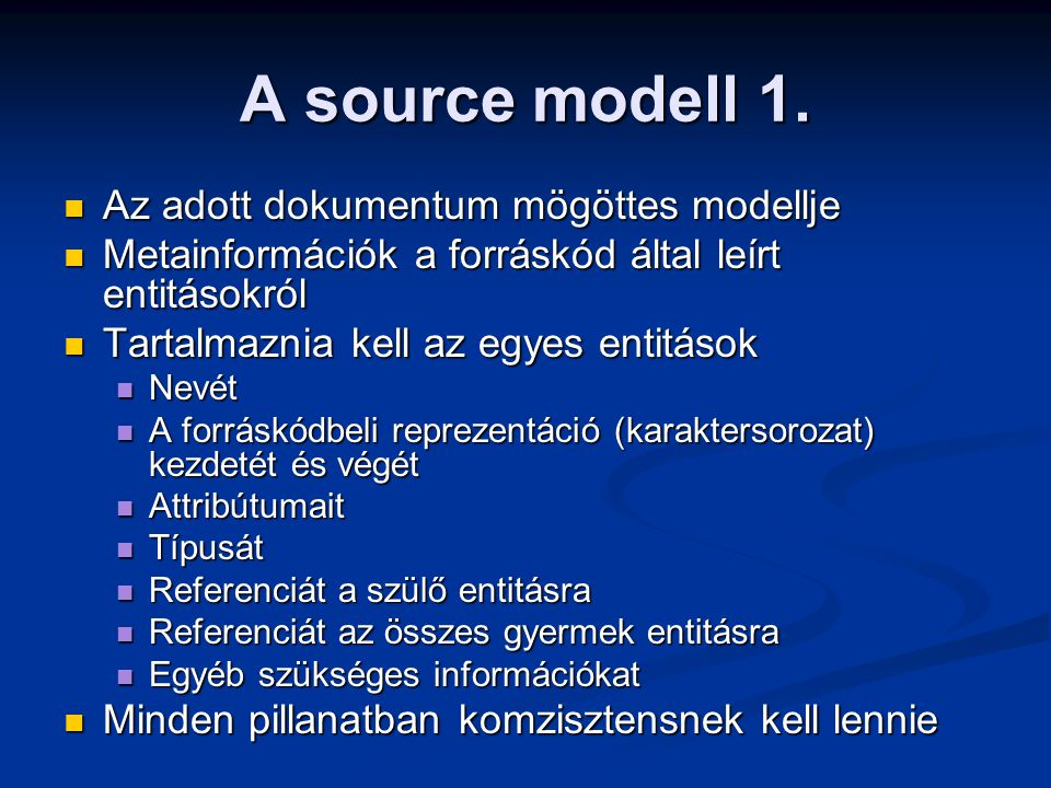 A source modell 1.