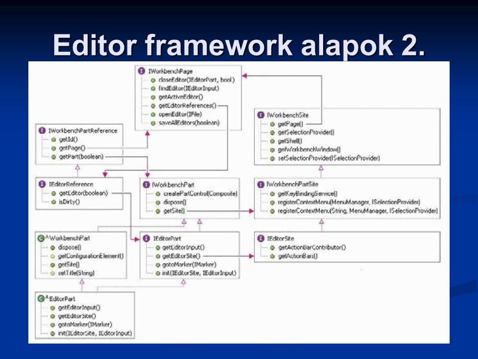 Editor framework alapok 2.