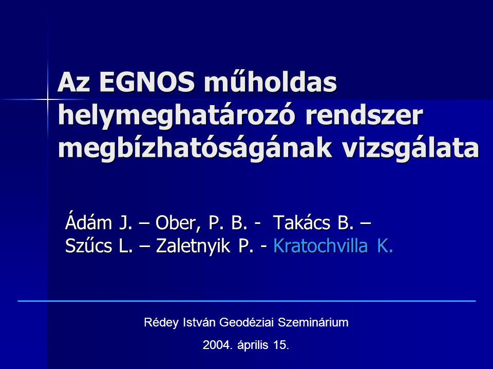Az EGNOS műholdas helymeghatározó rendszer megbízhatóságának vizsgálata Ádám J.