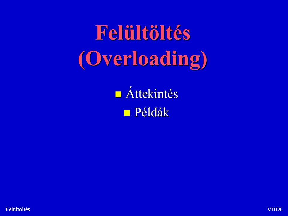 FelültöltésVHDL Felültöltés (Overloading) n Áttekintés n Példák