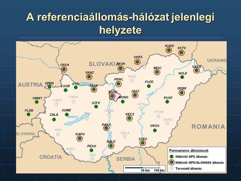 A referenciaállomás-hálózat jelenlegi helyzete