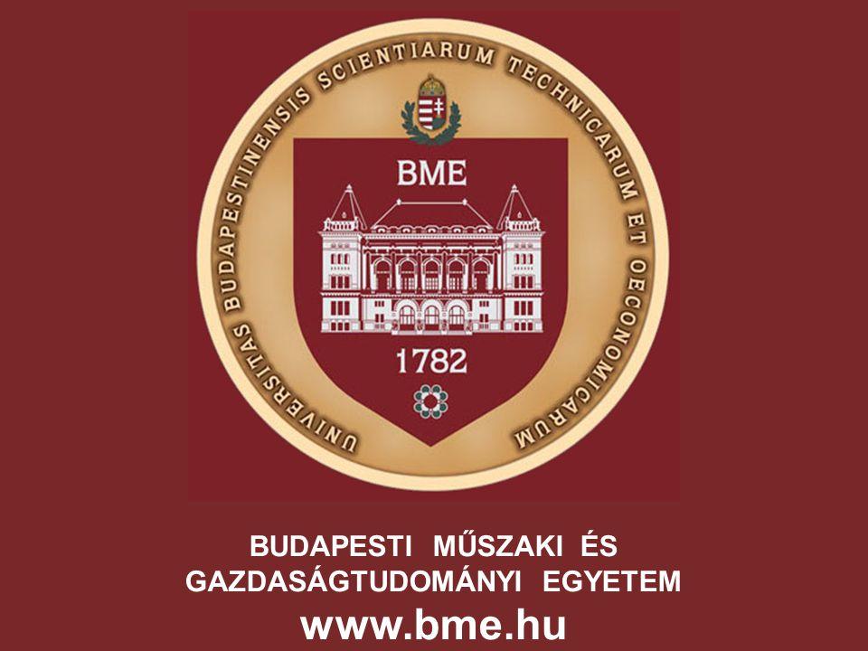 BUDAPESTI MŰSZAKI ÉS GAZDASÁGTUDOMÁNYI EGYETEM www.bme.hu