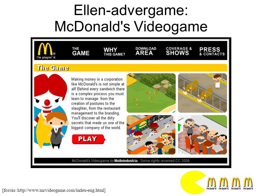 Ellen-advergame: McDonald s Videogame [forrás: http://www.mcvideogame.com/index-eng.html]