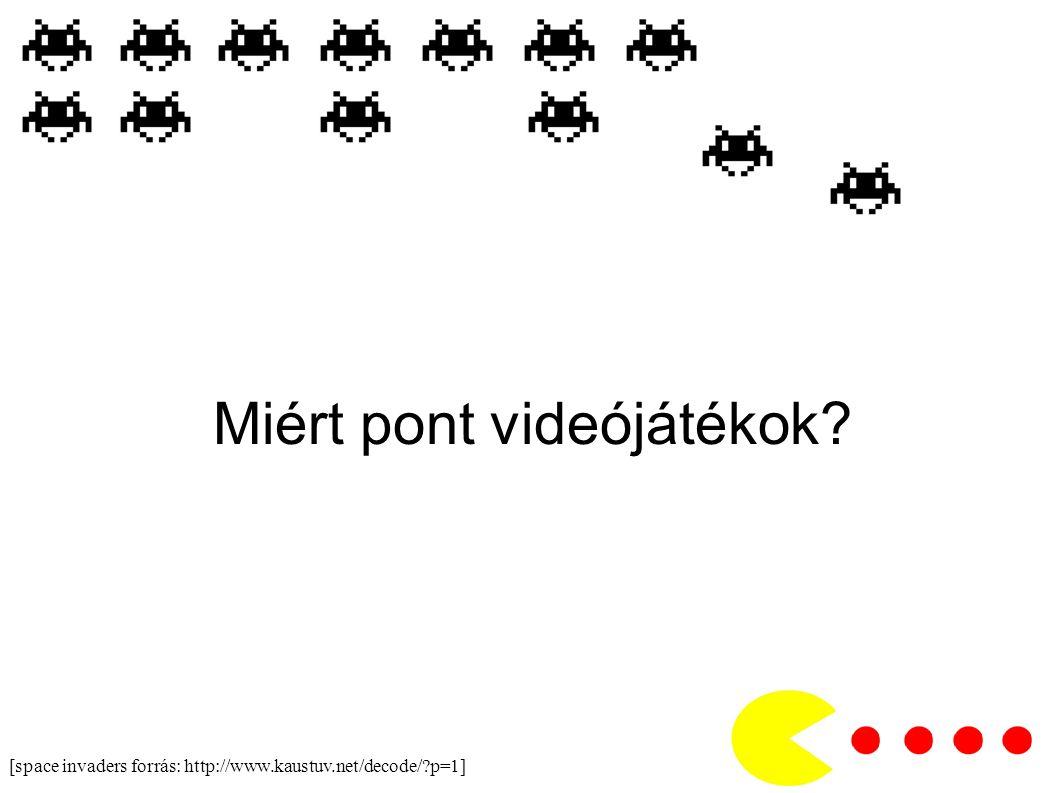 Miért pont videójátékok? [space invaders forrás: http://www.kaustuv.net/decode/?p=1]