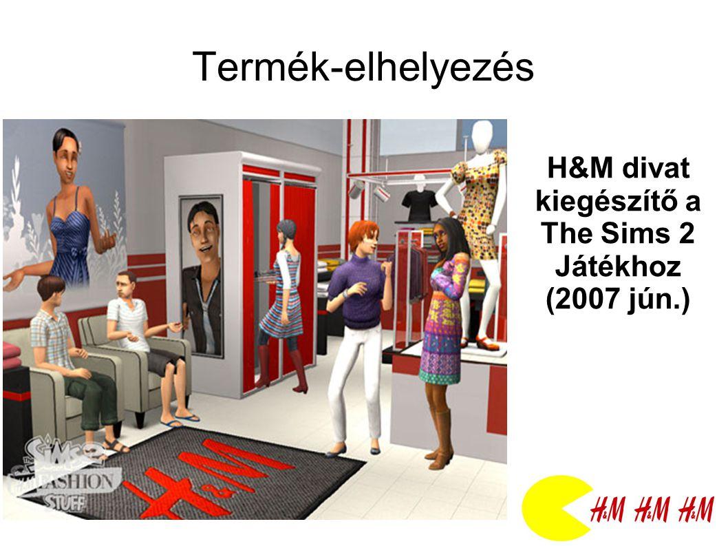 Termék-elhelyezés H&M divat kiegészítő a The Sims 2 Játékhoz (2007 jún.)