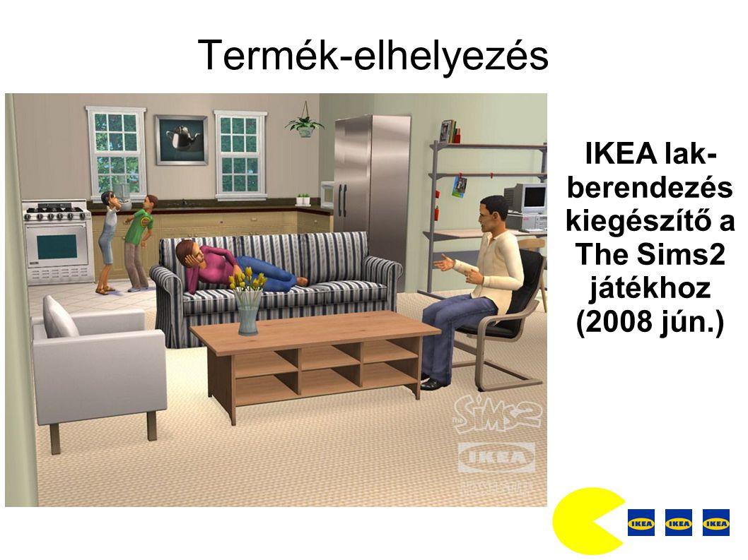 Termék-elhelyezés IKEA lak- berendezés kiegészítő a The Sims2 játékhoz (2008 jún.)