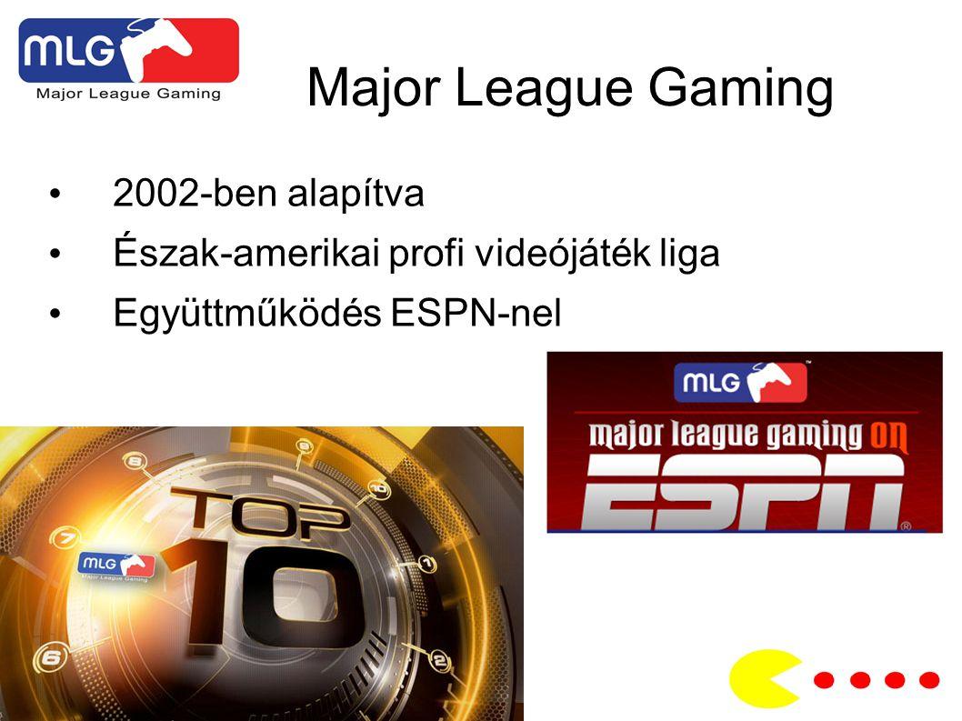 Major League Gaming 2002-ben alapítva Észak-amerikai profi videójáték liga Együttműködés ESPN-nel