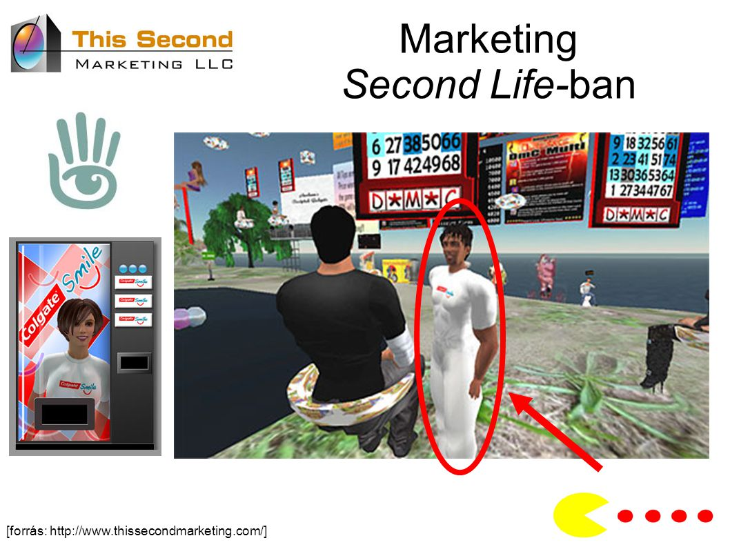 Marketing Second Life-ban [forrás: http://www.thissecondmarketing.com/]