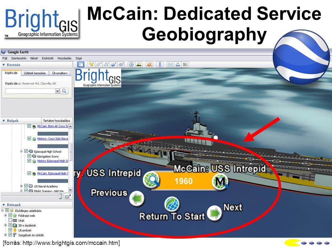 McCain: Dedicated Service Geobiography [forrás: http://www.brightgis.com/mccain.htm]