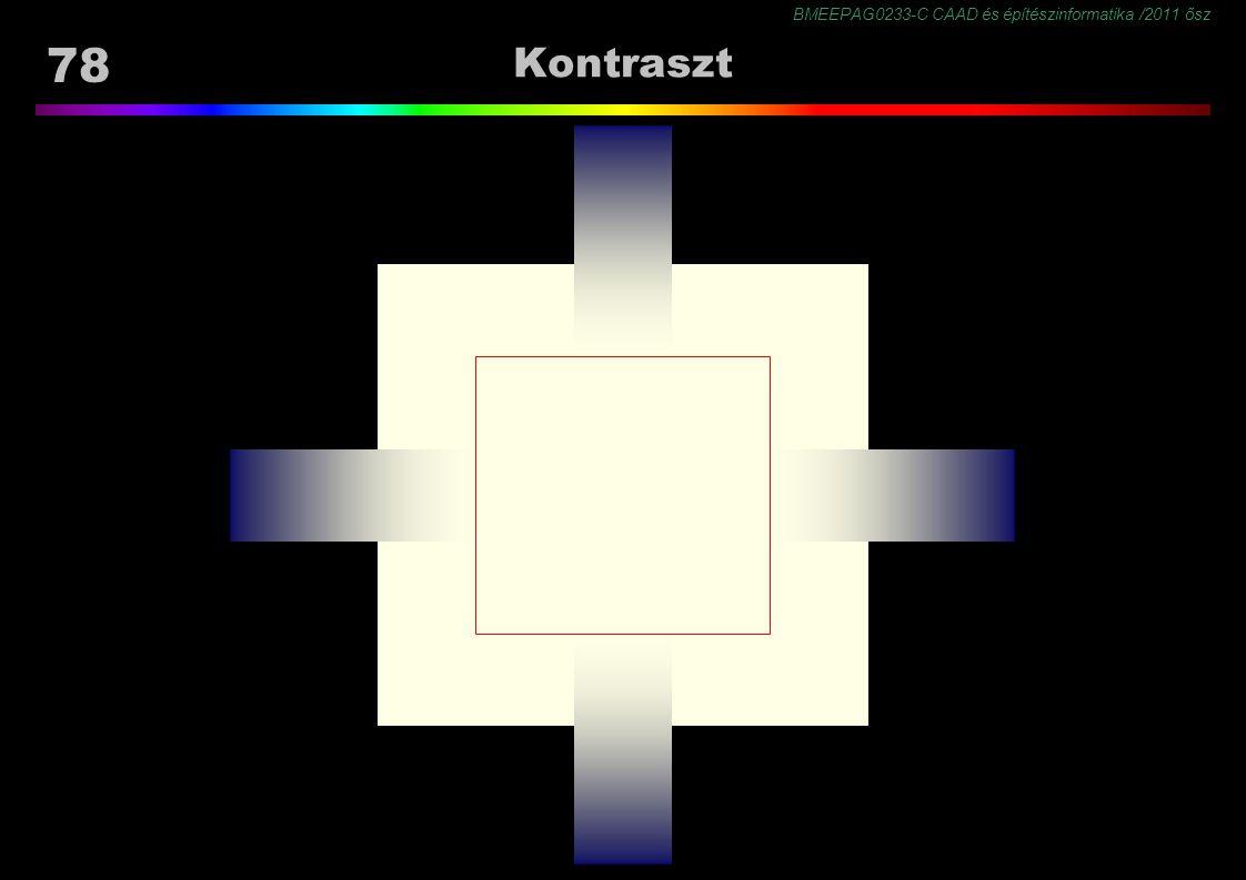 BMEEPAG0233-C CAAD és építészinformatika /2011 ősz 78 Kontraszt