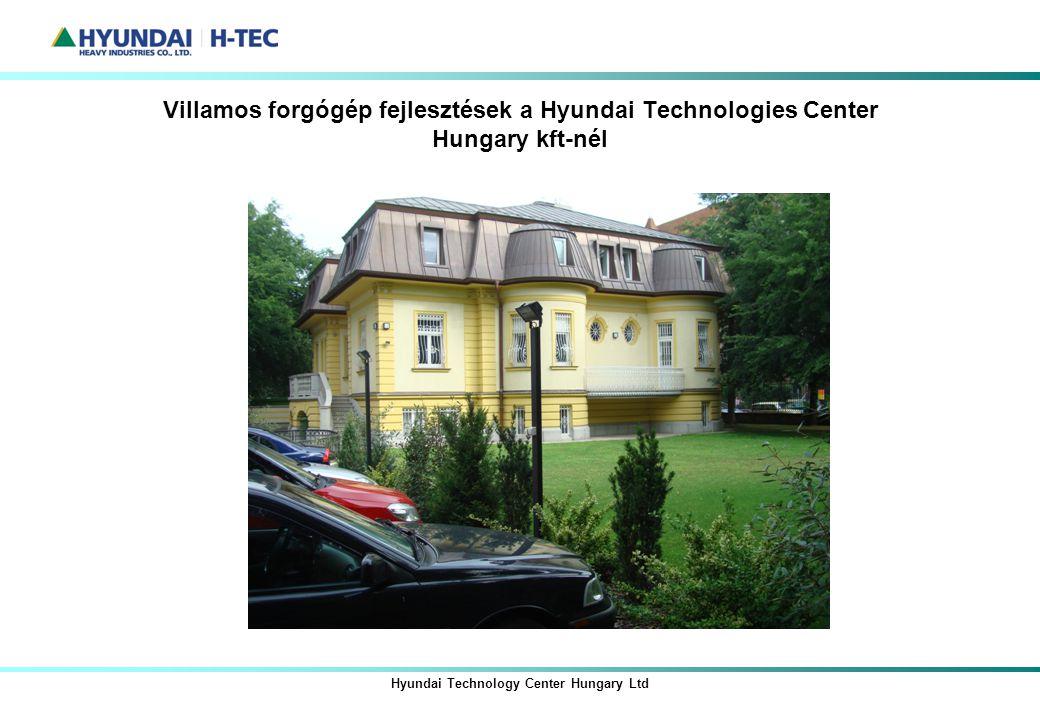 Hyundai Technology Center Hungary Ltd Villamos forgógép fejlesztések a Hyundai Technologies Center Hungary kft-nél