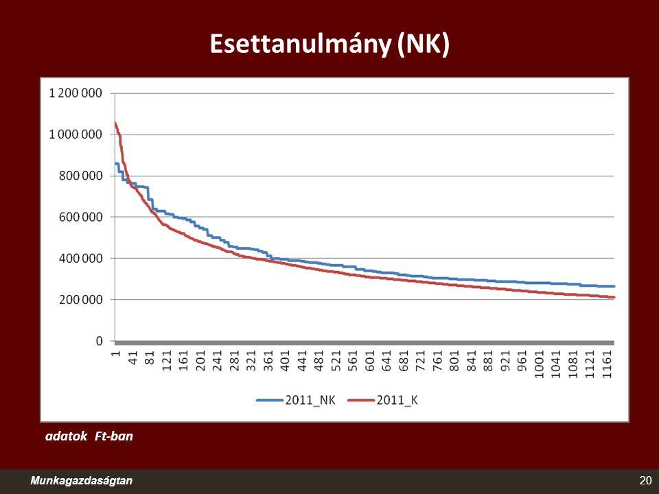 Esettanulmány (NK) Munkagazdaságtan20 adatok Ft-ban