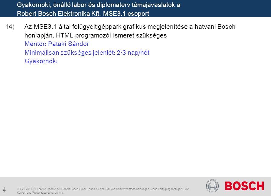 14)Az MSE3.1 által felügyelt géppark grafikus megjelenítése a hatvani Bosch honlapján.