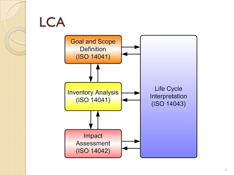 """Cél és rendszerhatárok Az LCA tanulmány elkészítéséhez szükséges információk definiálása, megnevezése ◦ Az esettanulmány célja ◦ Functional unit - Funkció(s) egység  A tanulmány referenciaegysége – a környezeti kárbecslést eredményét erre az egységre vonatkoztatjuk  Például:  1 nm fal lefestéséhez szükséges festék előállítása okozta környezeti kár  Egy autó által 100 km távolság megtétele során okozott környezeti kár ◦ Rendszerhatárok definiálása:  Határvonal meghúzása """"termékrendszer és """"környezet között  Folyamatábra 7"""